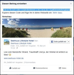 Facebook Post in WordPress einbetten